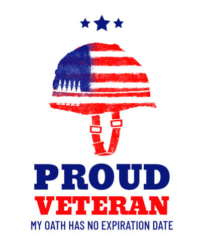 T-Shirt Design Maker for a Veterans Day Celebration 1812