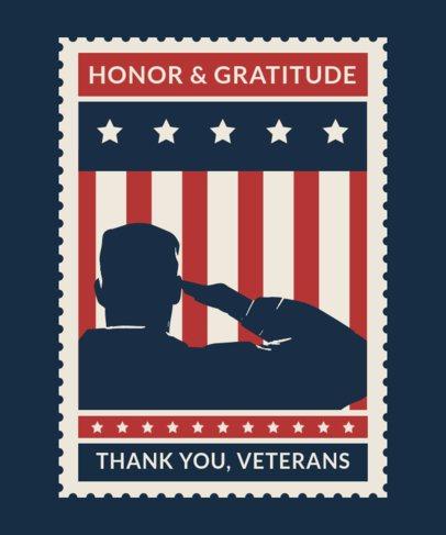 T-Shirt Design Template Honoring Veterans Day 1813