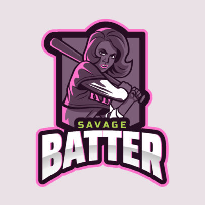 GTA-Inspired Logo Generator  Featuring a Female Batter 2507y