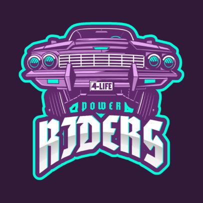 GTA-Inspired Gaming Logo Generator Featuring a Lowrider Clipart 2507aa