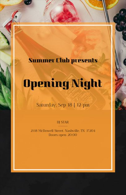 Summer Club Online Flyer Maker with Tropical Theme 161e--1903