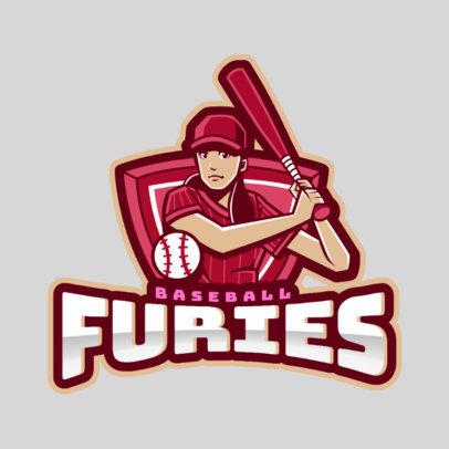 Logo Template for a Female Baseball Team 172h-2546