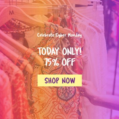 Cyber Monday Ad Banner Template for a Fashion Store 542j-1796