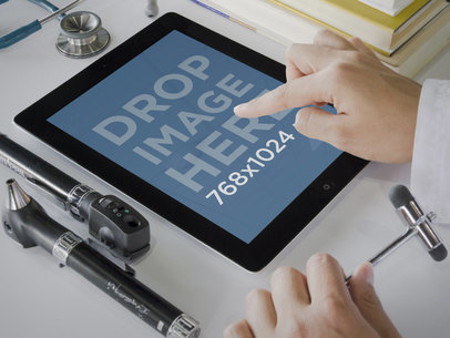 Black iPad Health Care Environment