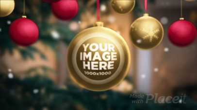 Intro Maker Featuring Animated Christmas Ornaments 461