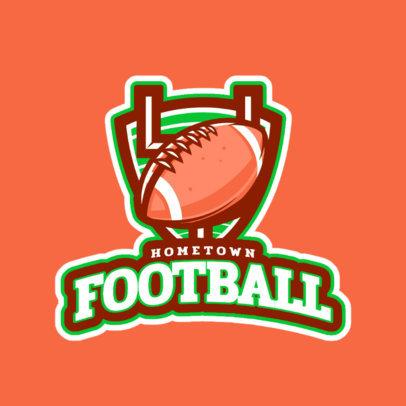 Sports Logo Maker Featuring a Football Ball Illustration 245u 2557