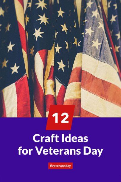 Design Template for a Veterans Day Pinterest Pin 626g-1804