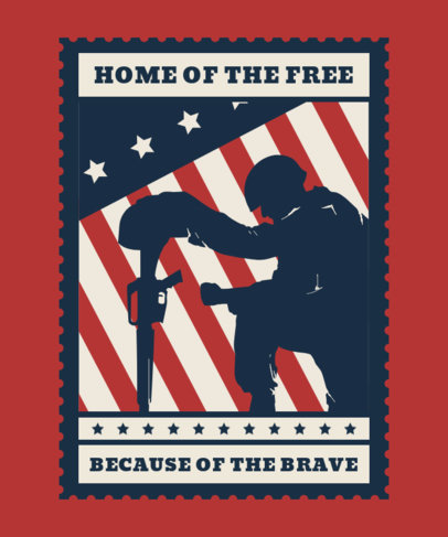T-Shirt Design Generator for a Veterans Day Celebration 1813h
