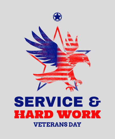 Veterans Day T-Shirt Design Creator for a Proud Veteran 1812a