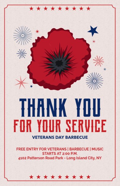 Flyer Maker for a Veterans Day Barbecue 153f 1805