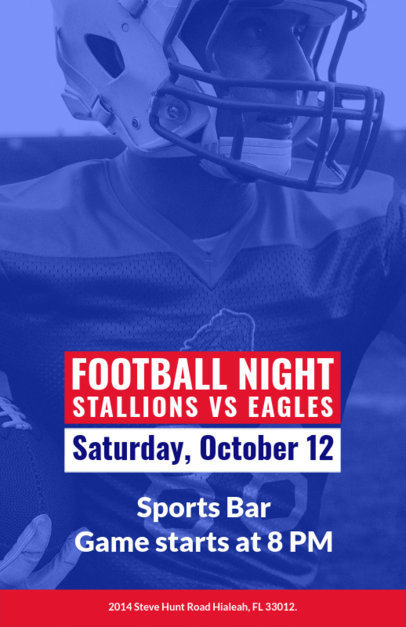 Online Flyer Maker for a Football Event at a Bar 129g