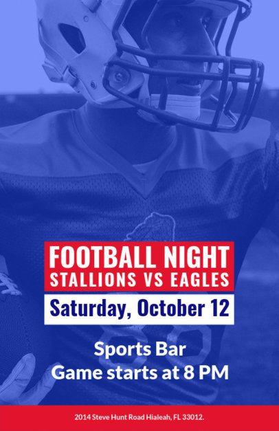 Online Flyer Maker for a Football Event at a Bar 129g