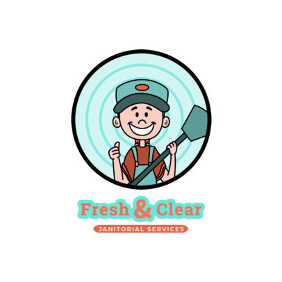 Carpet Cleaning Services Logo Template Featuring a Happy Worker 2550c