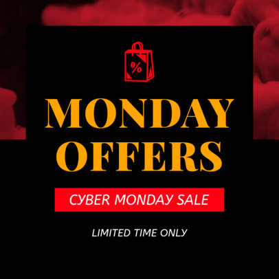 Cyber Monday Design Template for a Limited-Time Offer 1030i 1795