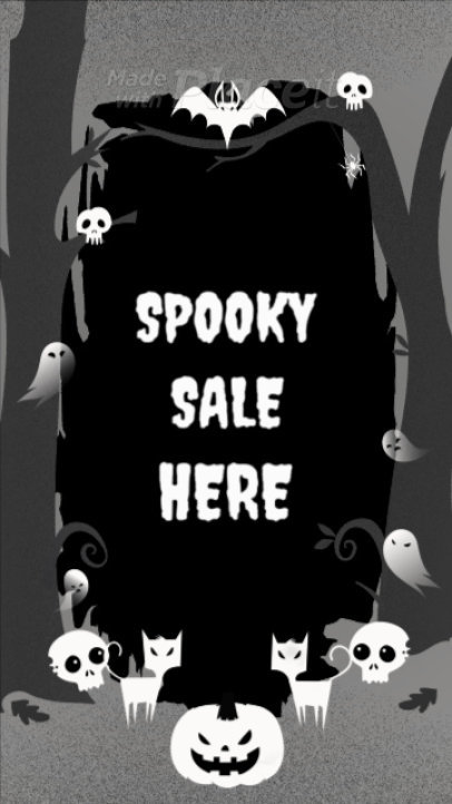 Instagram Story Template Featuring Spooky Halloween Characters 1950