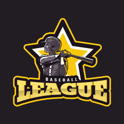 Sports Logo Generator with an All-Star Baseball Player Clipart 2542c