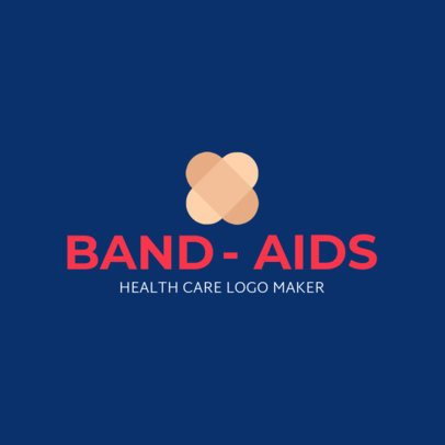 Health Care Logo Generator Featuring Two Overlapping Band-Aids 1049h 2555