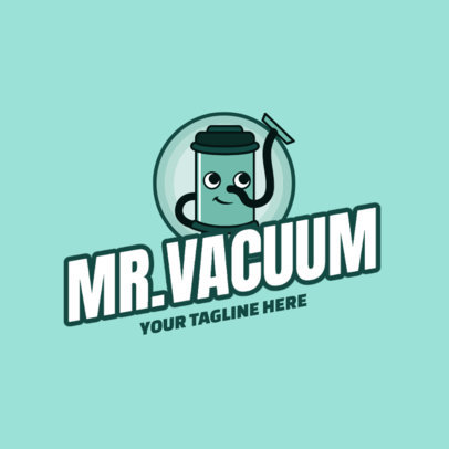 Carpet Cleaning Logo Maker Featuring a Vacuum Cartoon 2549a