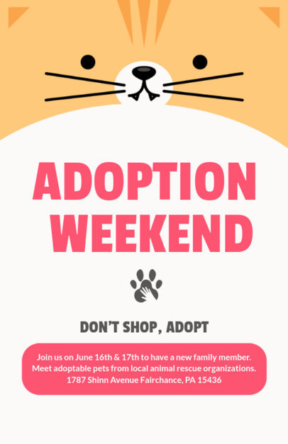 Cartoonish Flyer Maker of a Pet Adoption Weekend 398f-1818