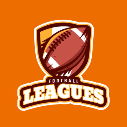 Football League Online Logo Generator 245r-2561