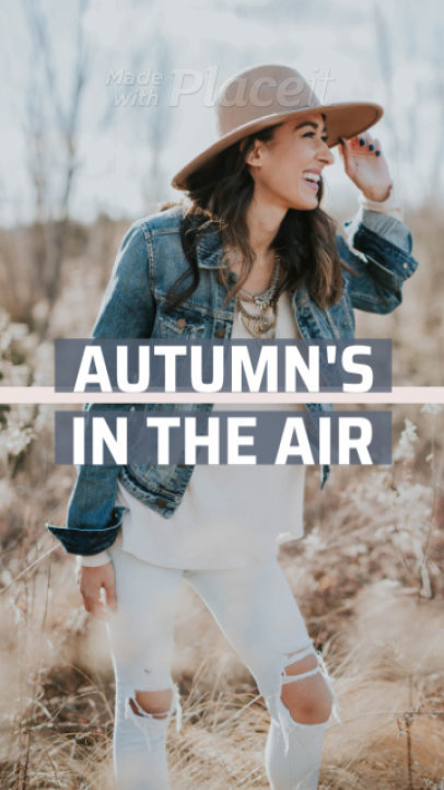 Fall-Themed Instagram Story Video Maker Featuring Text and Logo Animations
