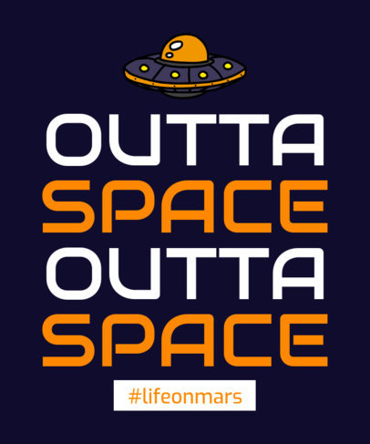 Quote T-Shirt Design Creator with a UFO Clipart 1810f