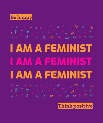 T-Shirt Design Generator with a Feminist Pride Quote 1811d