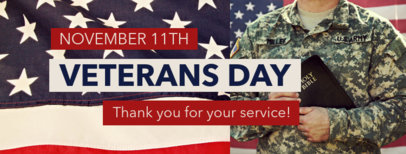 Facebook Cover Maker with a Veterans Day Thankful Message 1803f