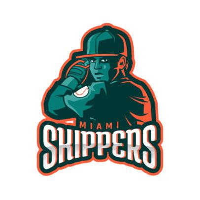 Baseball Team Logo Maker with a Pitcher 172q-2544