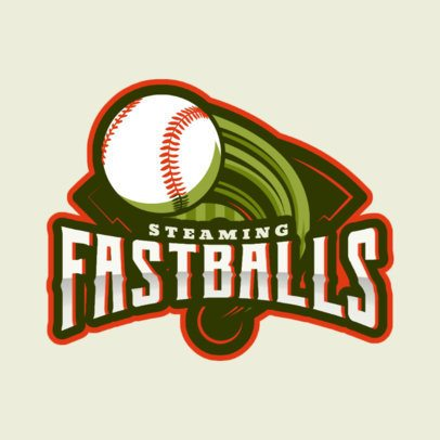 Baseball Logo Generator Featuring a Fastball 172r-2544