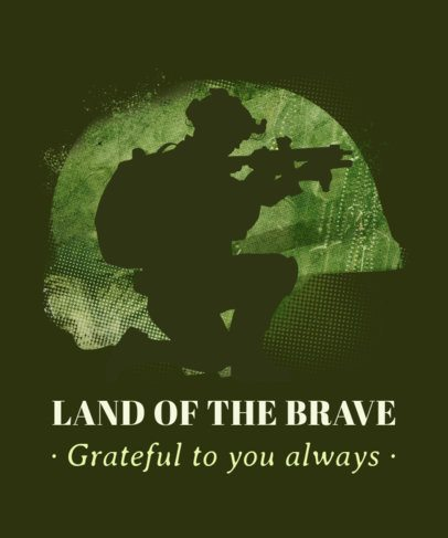 T-Shirt Design Maker for Veterans Day with a Soldier Silhouette 1815g