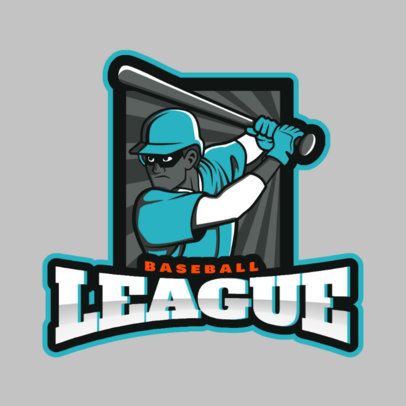 Sports Logo Maker Featuring a Baseball Batter Clipart 172t 2541