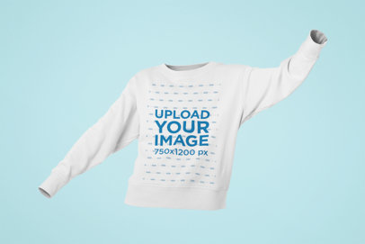 Mockup of a Ghosted Crewneck Sweatshirt for Woman 29353