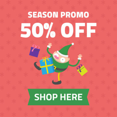 Christmas Ad Banner Maker for a Special Holiday-Season Promo 1838