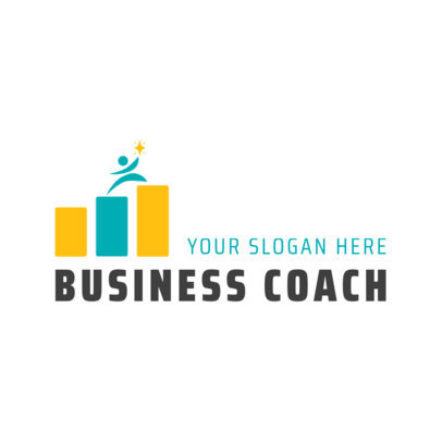 Minimalist Logo Template for a Business Coach
