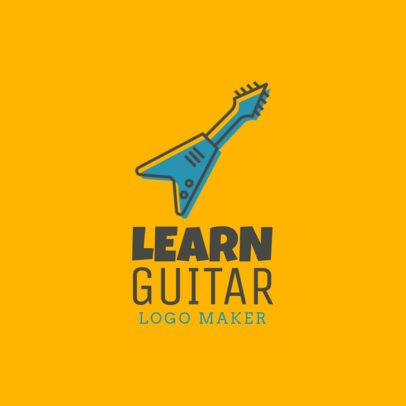 Online Logo Maker for Guitar Schools 1136f-12-el