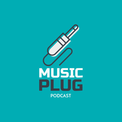 Music-Themed Logo Generator Featuring Minimalist Graphics 1184g 12-el
