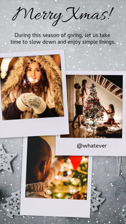 Christmas Instagram Story Template with Vintage Picture Frames 960h 1824