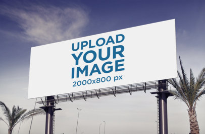 Billboard Mockup Featuring Some Palm Trees 373-el