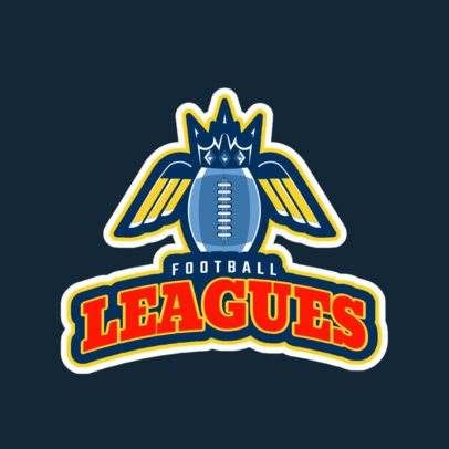Sports Logo Maker for a Football League 245o-2559