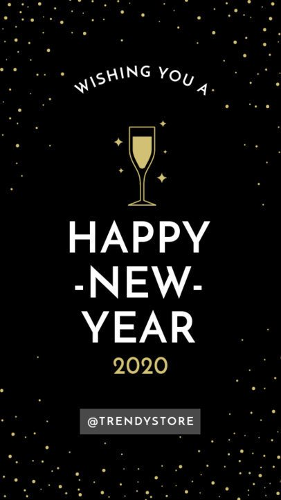 Instagram Story Maker for New Year Wishes 1832a