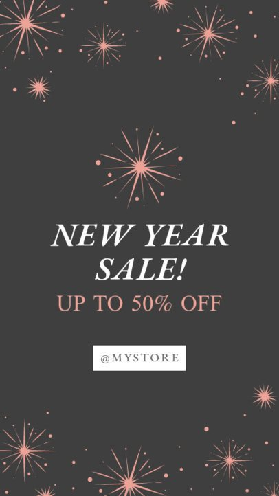 Instagram Story Template for a New Year Sale 1832d