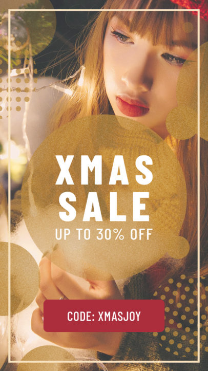 Christmas Sale Instagram Story Template 582l-1823