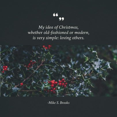Instagram Post Template for an Emotional Christmas Quote 655g 1833