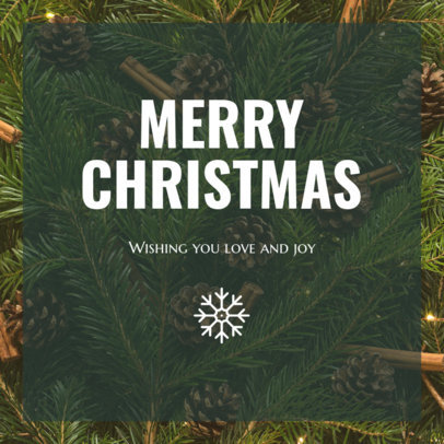 Instagram Post Generator for a Merry Christmas Celebration 634w 1833