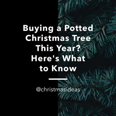 Instagram Post Template for a Christmas Season Quote 631g 1833