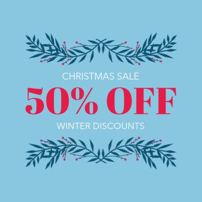Social Media Post Creator for a Winter Discounts Announcement 626h