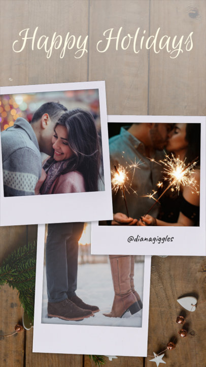 Christmas Instagram Story Template Featuring Holiday-Themed Instant Pictures 960k 1826