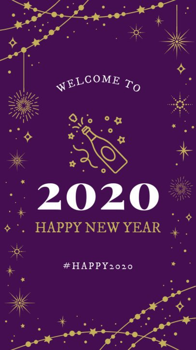 Instagram Story Maker for a New Year's Eve Celebration 1832g