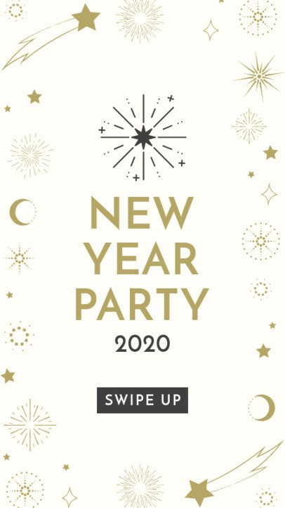 Instagram Story Template for a New Year's Party Invitation 1832h